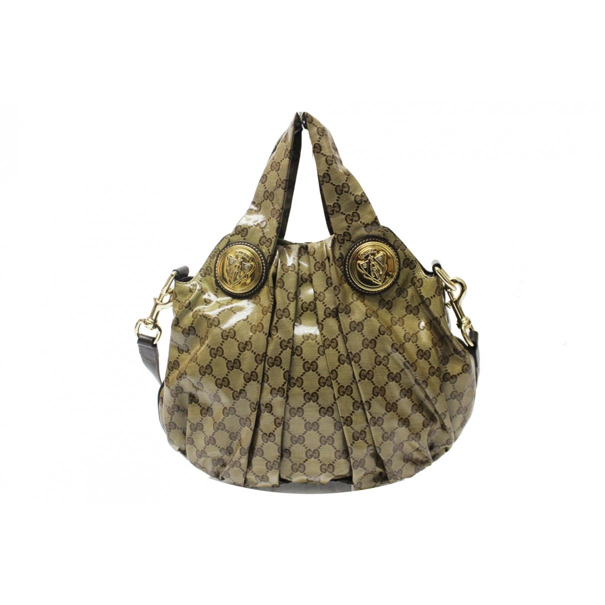 Gucci Hysteria Handtasche in  Beige Leinen