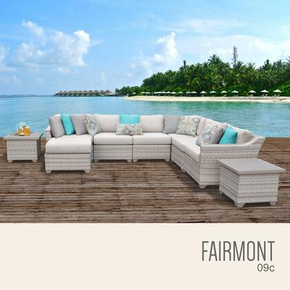 FAIRMONT-09c Fairmont 9 Piece Outdoor Wicker Patio Furniture Set 09c with 1 Cover in