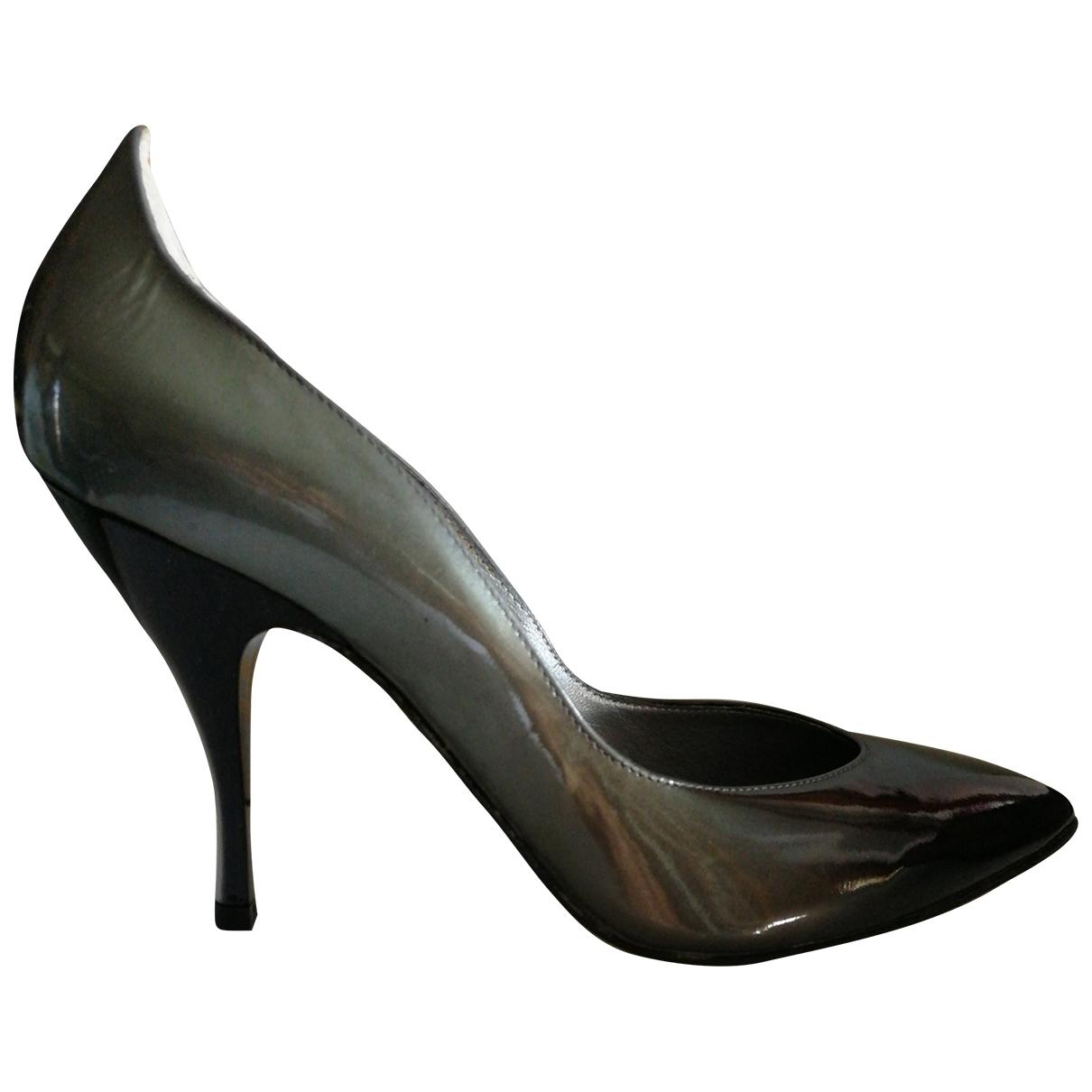 Vic Matié \N Metallic Leather Heels for Women 39 EU