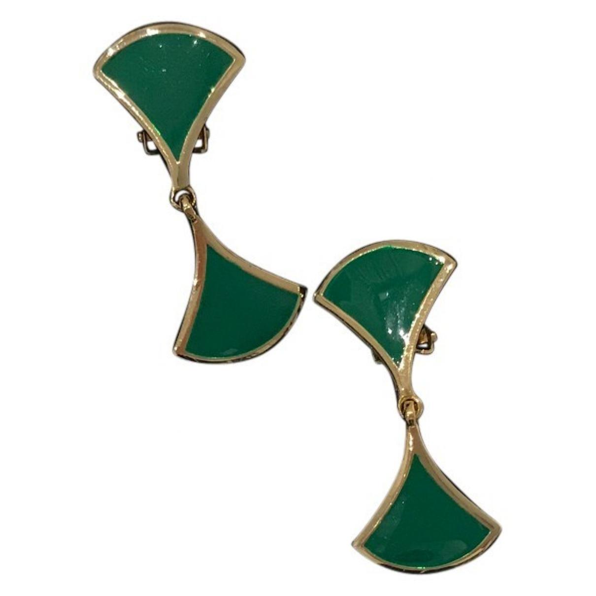 - Boucles d'oreilles Art Deco pour femme en metal - vert