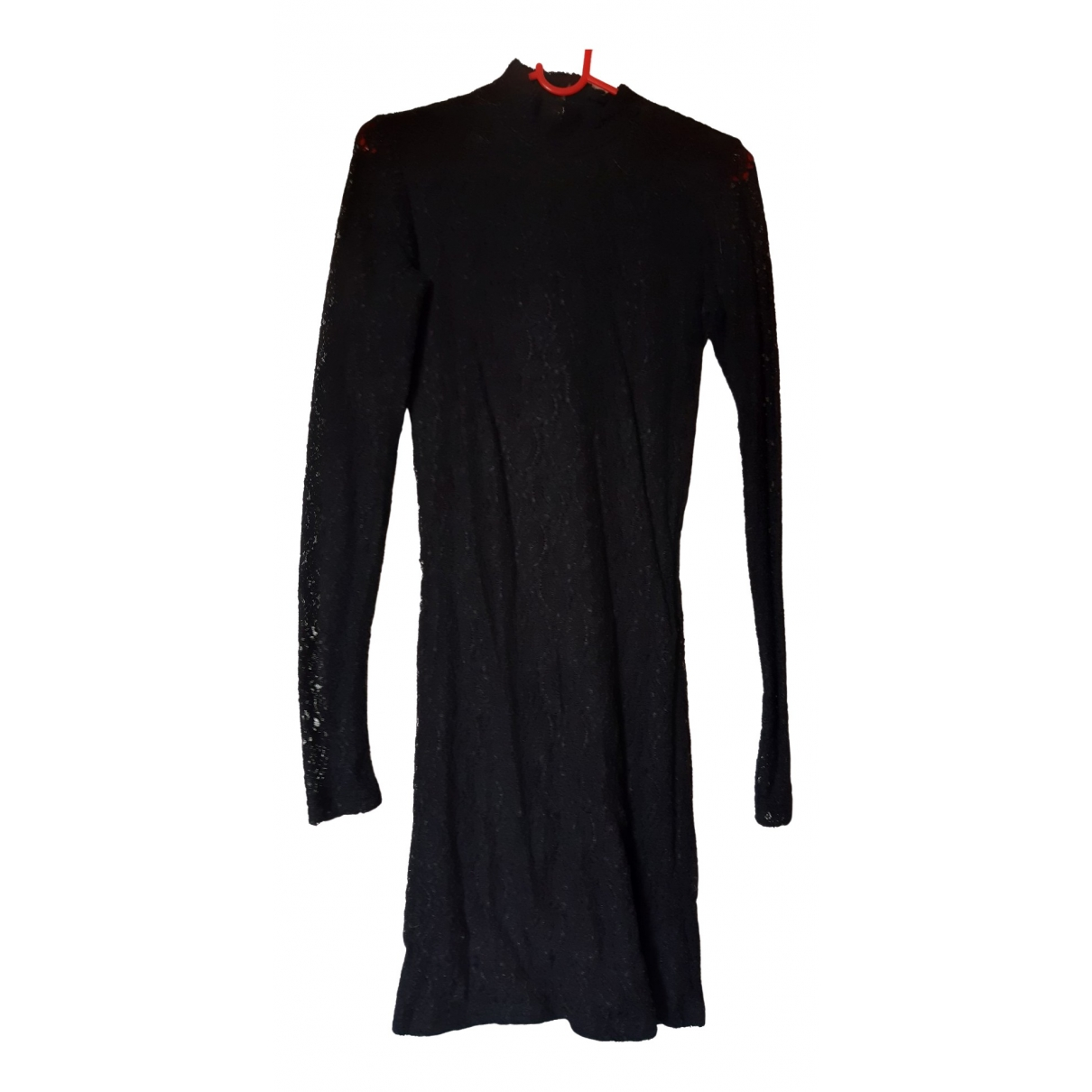 Ichi \N Kleid in  Schwarz Baumwolle - Elasthan