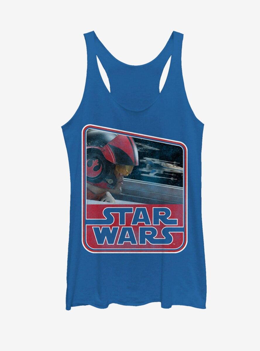 Star Wars Retro Poe Dameron Womens Tank