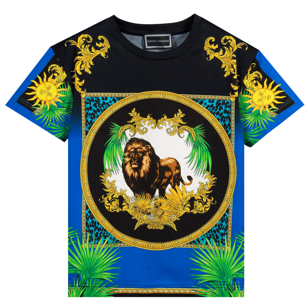 Versace Young Versace Lion T-shirt Colour: MULTI COLOURED, Size: SMALL