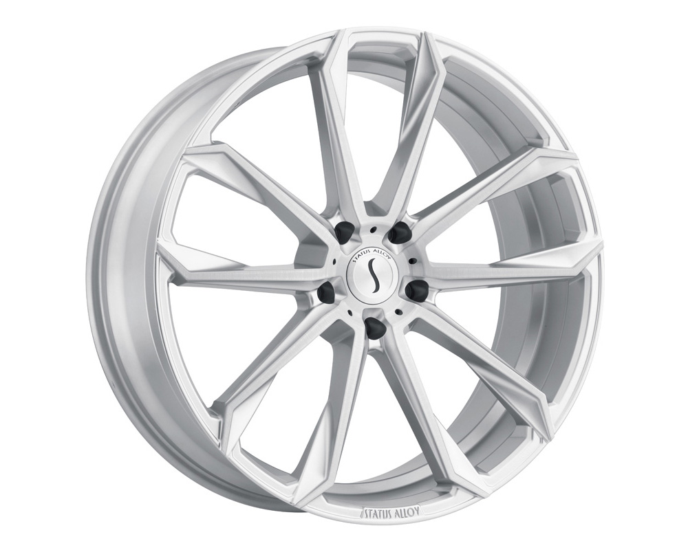 Status Mastadon Wheel 22x9.5 5x112 35mm Silver w/ Brushed Machine Face