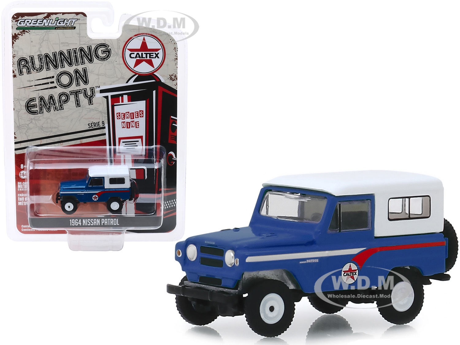 1964 Nissan Patrol Blue with White Top Caltex Running on Empty Series 9 1/64 Diecast Model Car by Greenlight