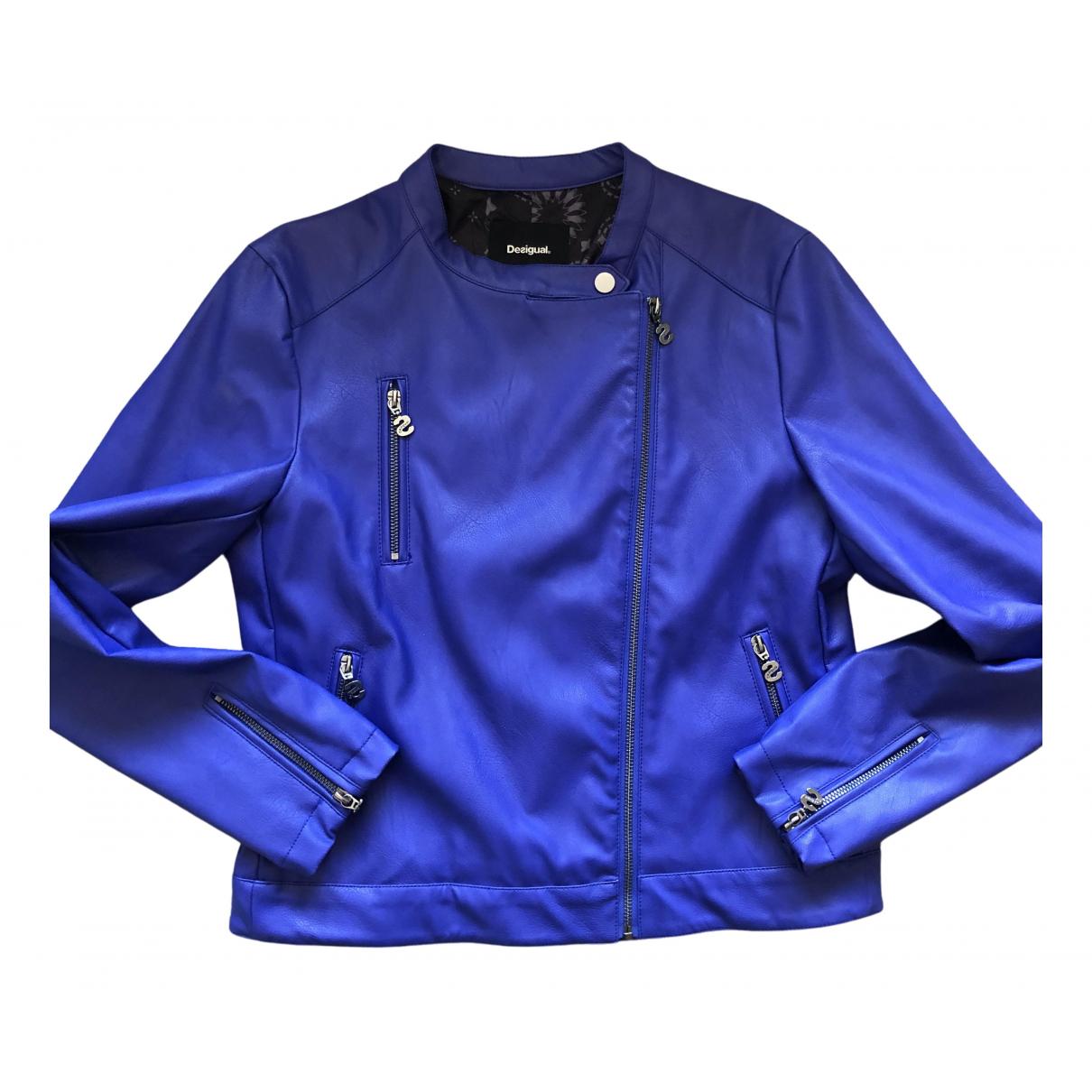 Desigual - Blouson   pour femme en cachemire - bleu