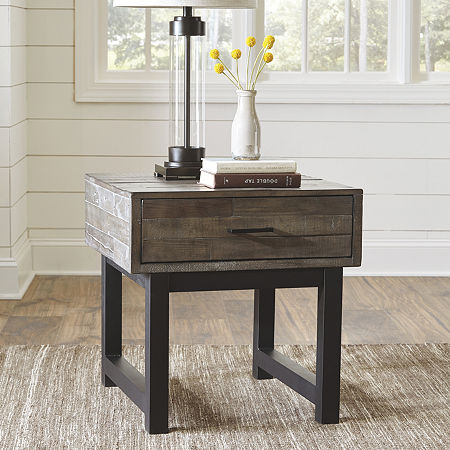 Signature Design by Ashley Mondoro End Table, One Size , Gray