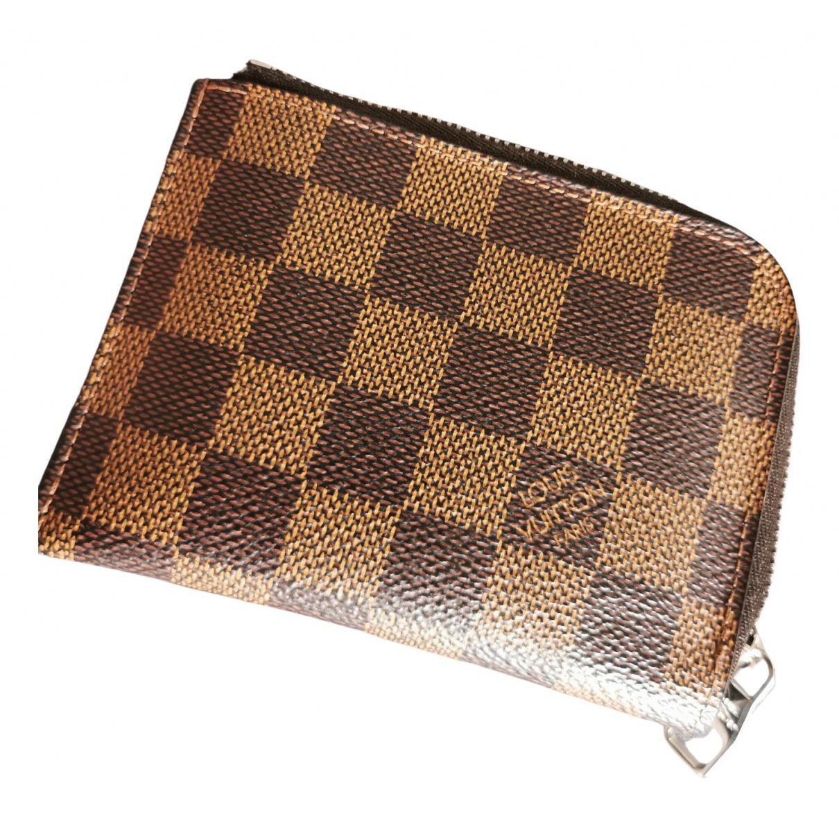 Louis Vuitton - Petite maroquinerie  Coin Card Holder pour homme en toile - marron