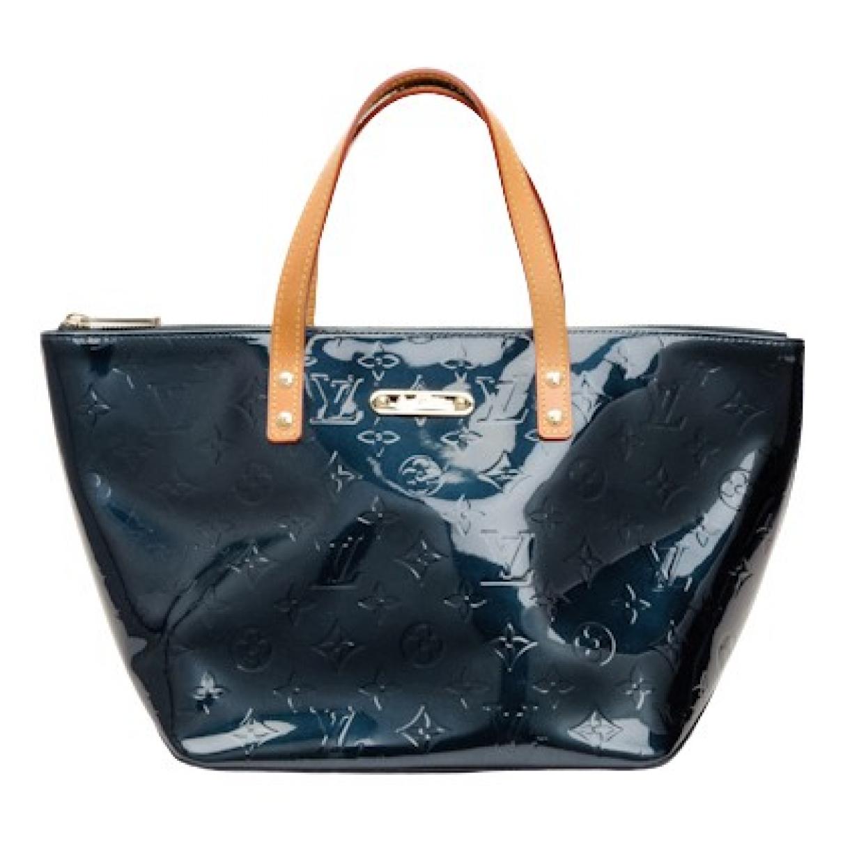 Louis Vuitton Bellevue Blue Patent leather handbag for Women \N