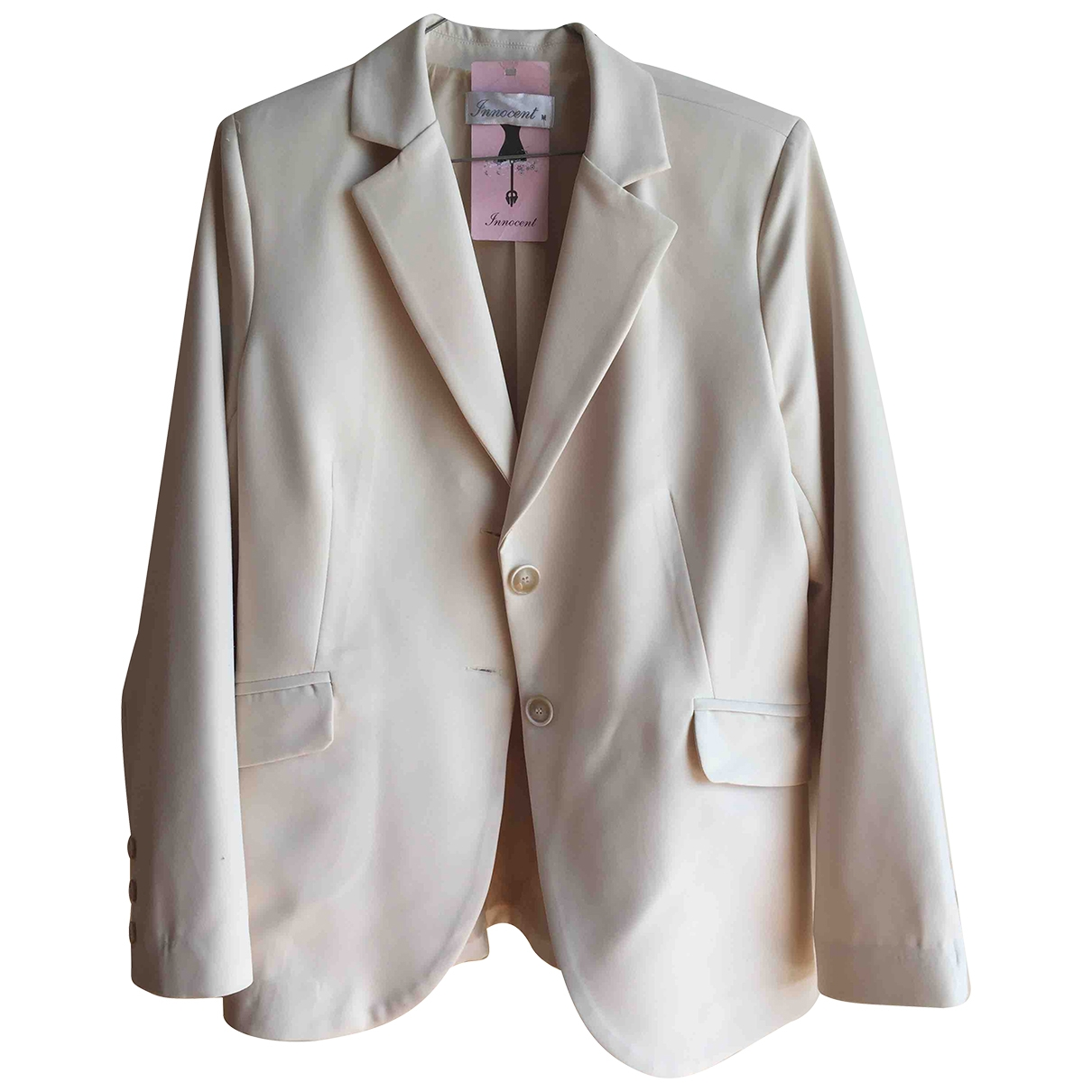Non Signé / Unsigned \N White Cotton jacket for Women M International
