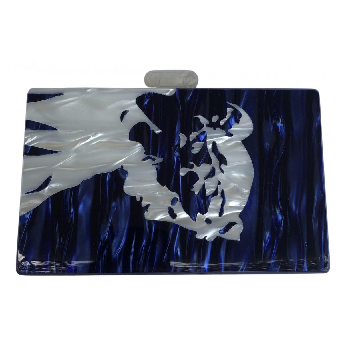 Urania Gazelli \N Clutch in  Blau Kunststoff