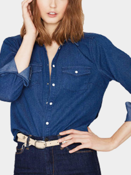 Yoins Blue Sexy Backless All-matched Shirt