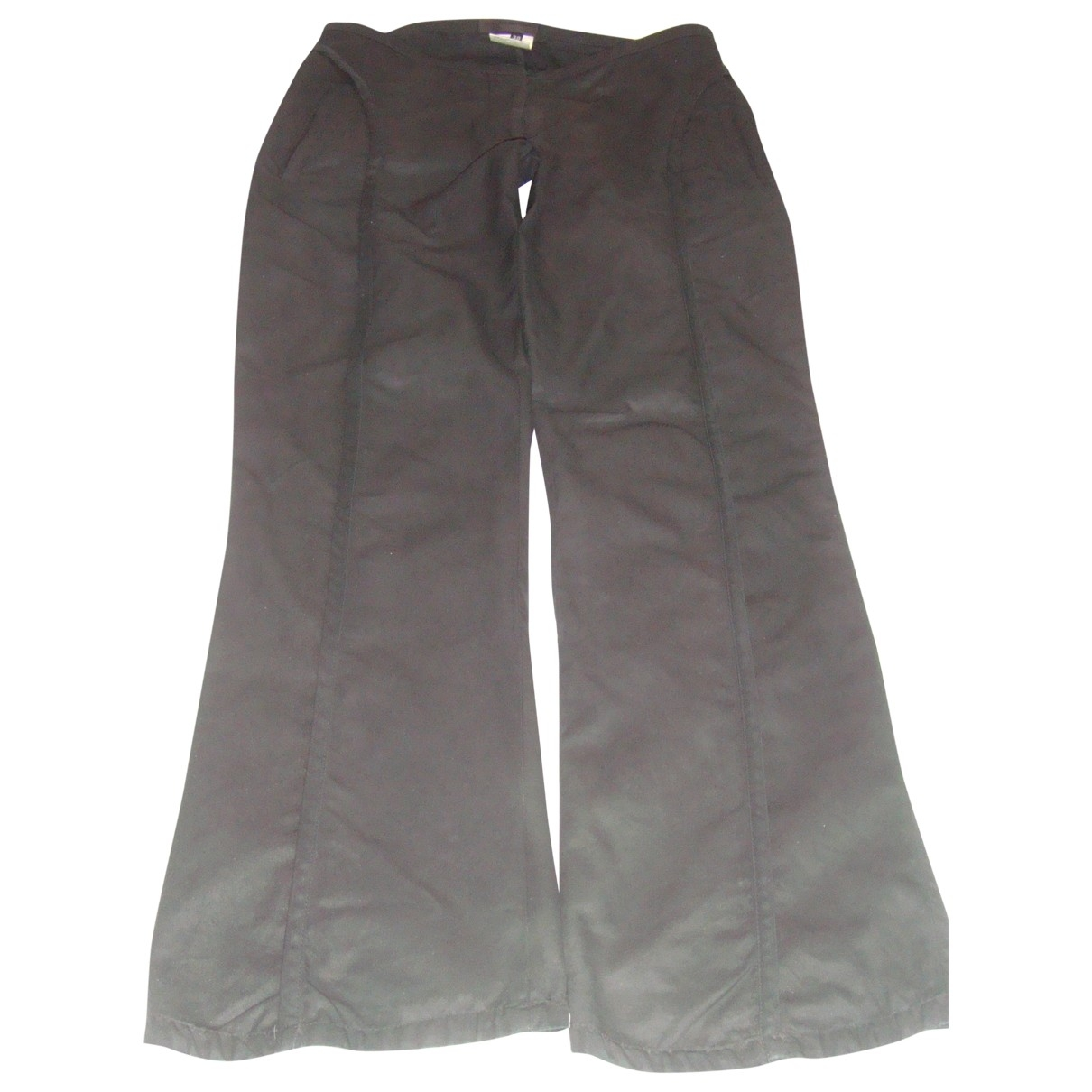 Costume National \N Black Cotton Trousers for Women 38 IT