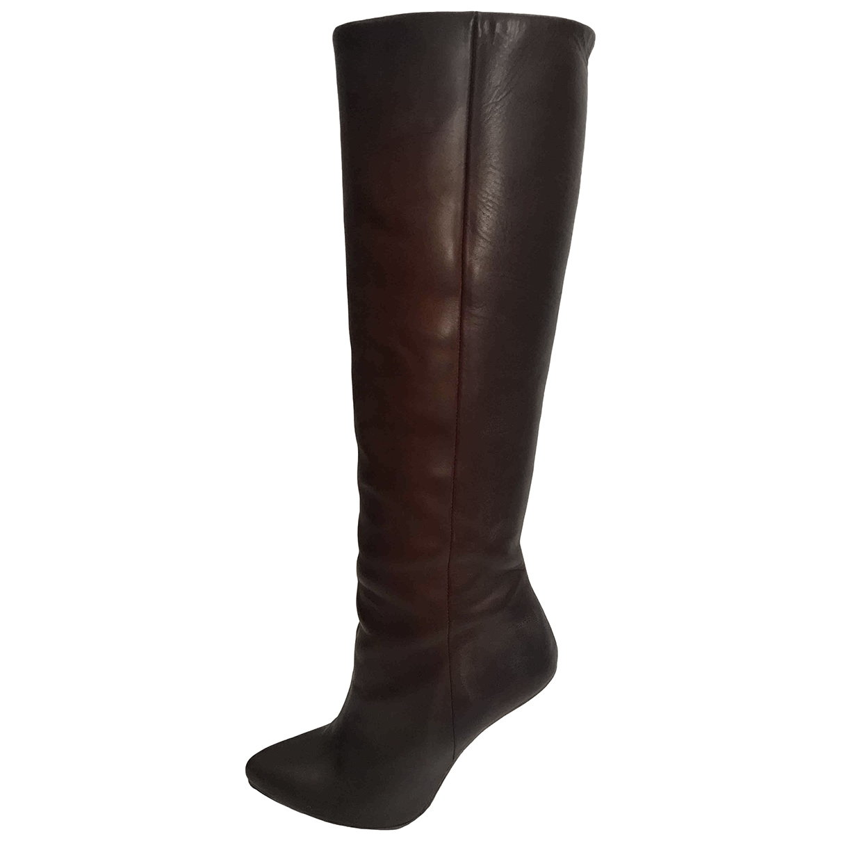Maison Martin Margiela Pour H&m \N Brown Leather Ankle boots for Women 38 EU
