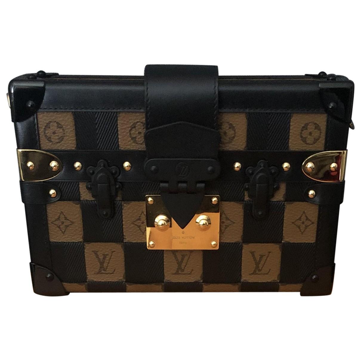 Louis Vuitton - Pochette Petit Malle pour femme en toile - noir