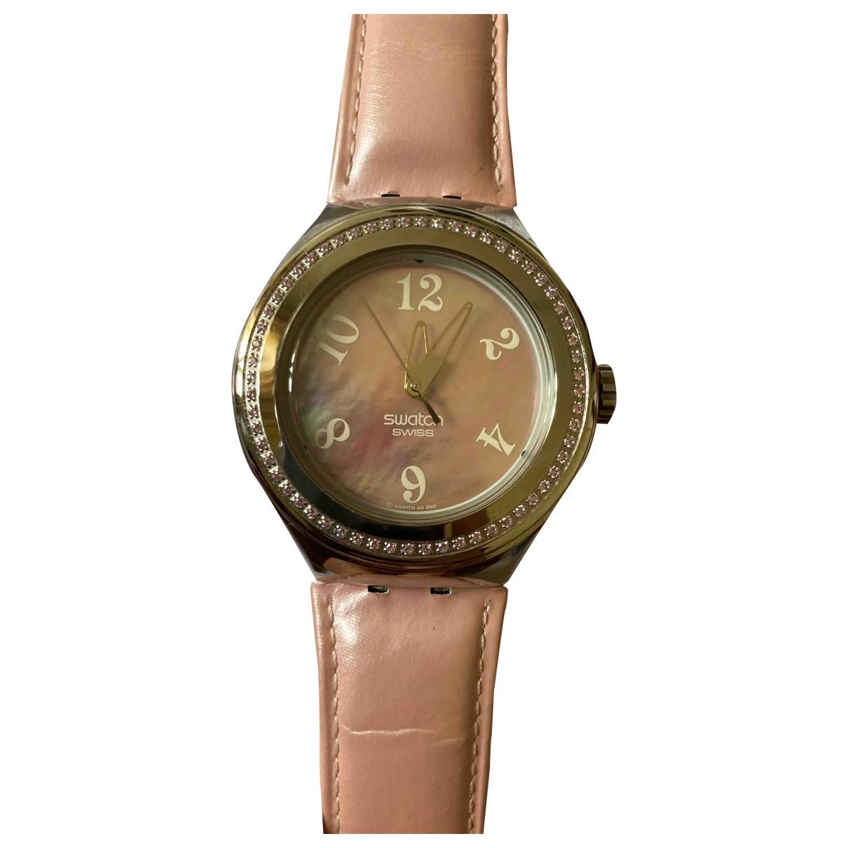 Swarovski - Montre   pour femme en acier - rose