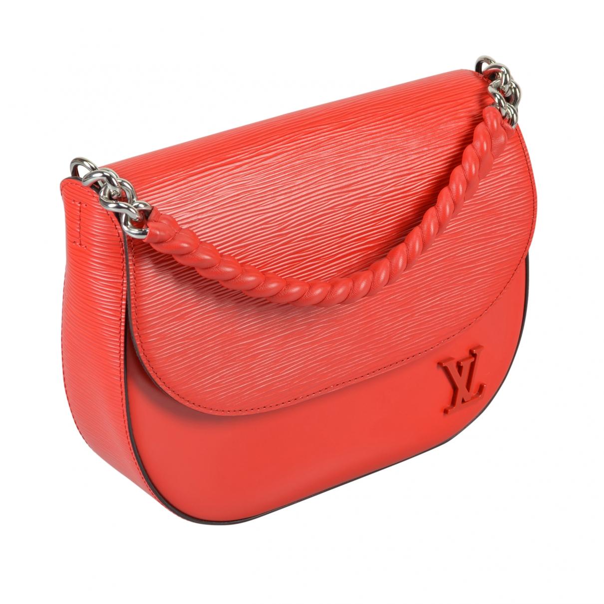 Louis Vuitton - Sac a main Luna pour femme en cuir - rouge