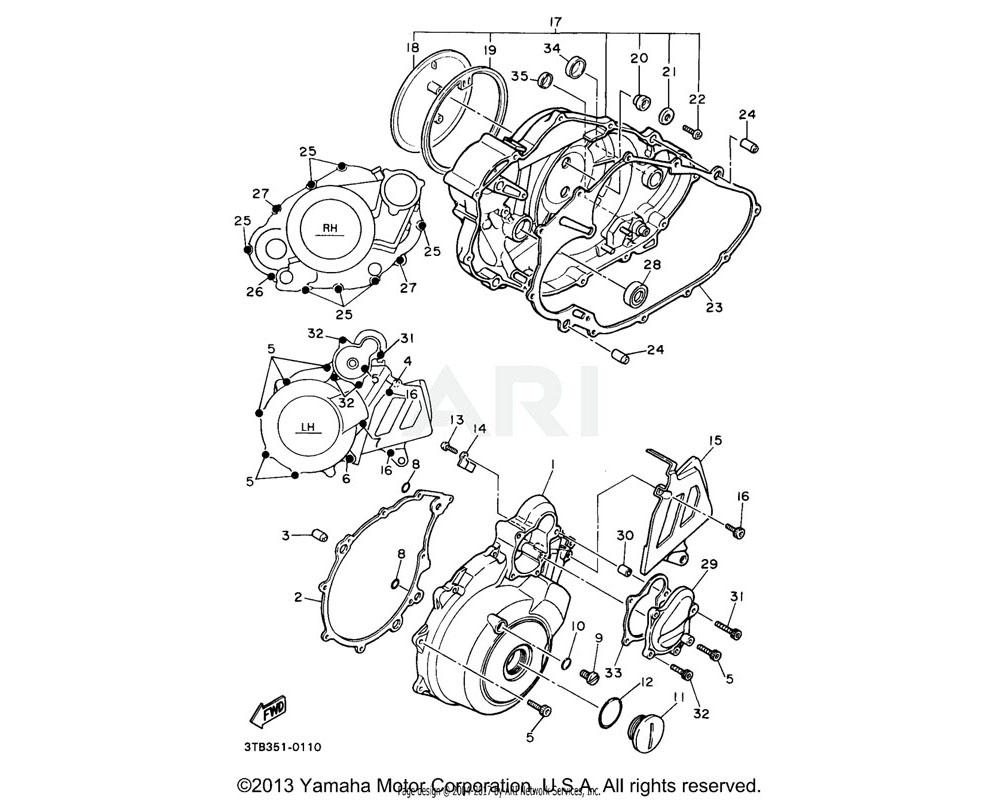 Yamaha OEM 1JK-15486-00-00 GROMMET
