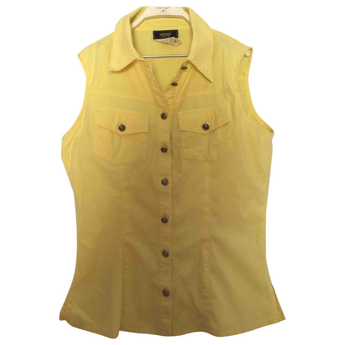 Versace Jeans \N Top in  Gelb Baumwolle