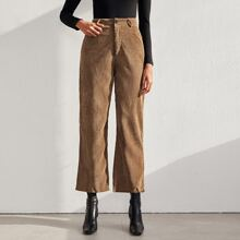 Pantalones de pierna recta con bolsillo