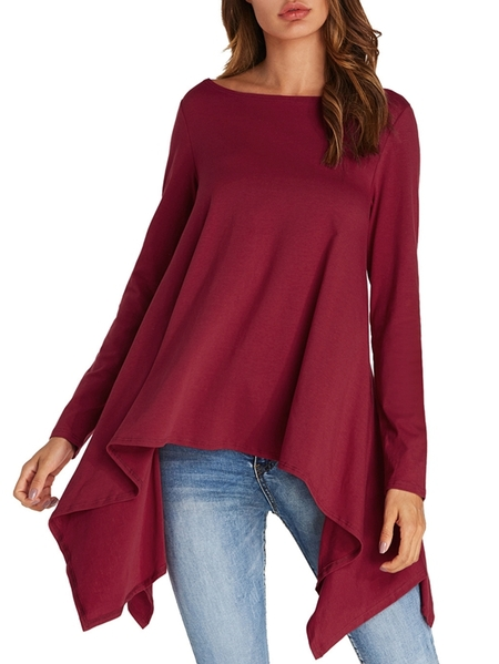 Yoins Kenoce Round Neck Long Sleeves Tee