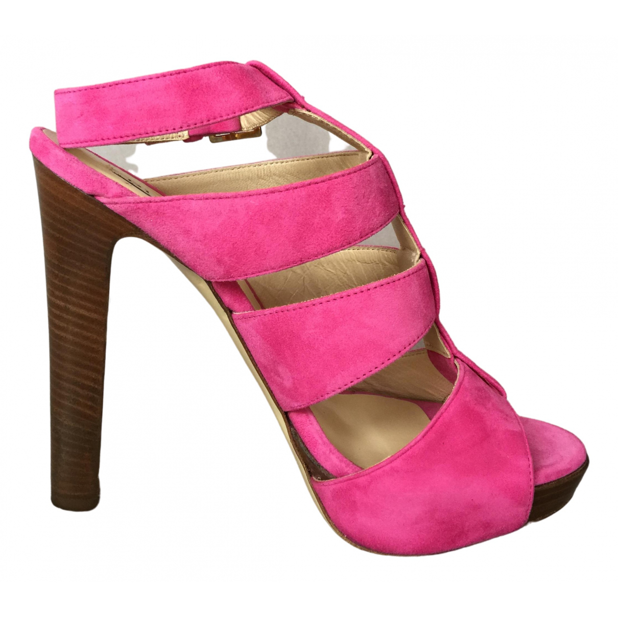 Pinko \N Pink Suede Heels for Women 38 EU