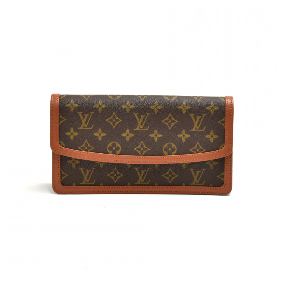 Louis Vuitton N Brown Cloth Clutch bag for Women N