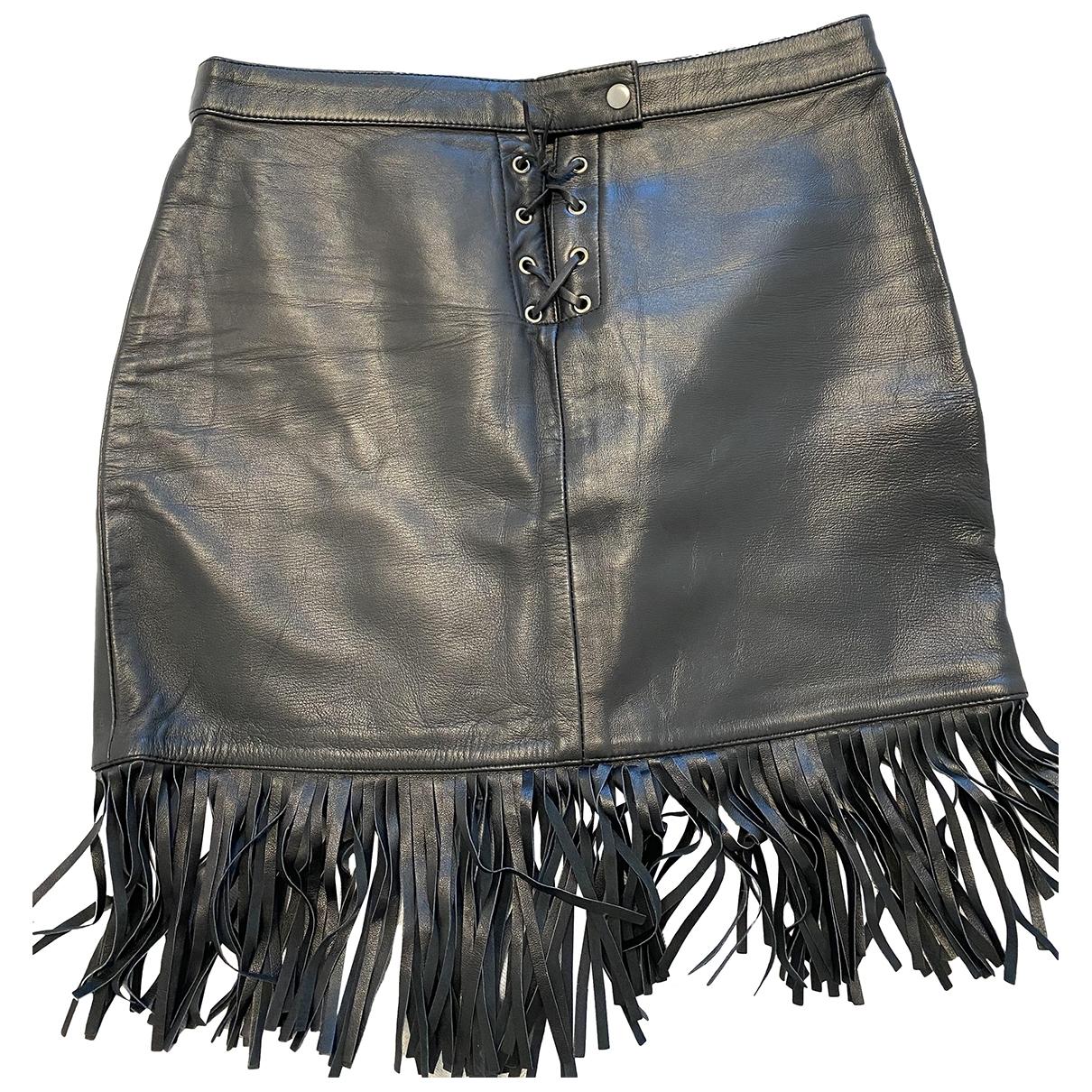 Maje - Jupe Spring Summer 2019 pour femme en cuir - noir