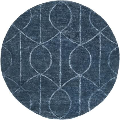 AWUB2165-8RD 8 Round Rug  in Navy and Pale