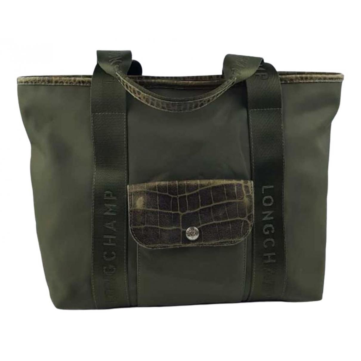 Longchamp \N Green Cloth handbag for Women \N