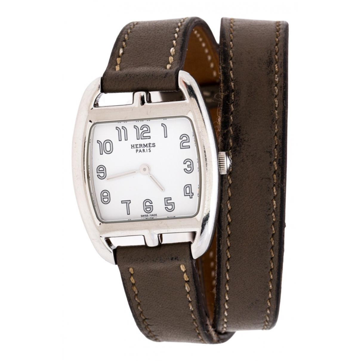 Hermès Cape Cod Brown Steel watch for Women \N