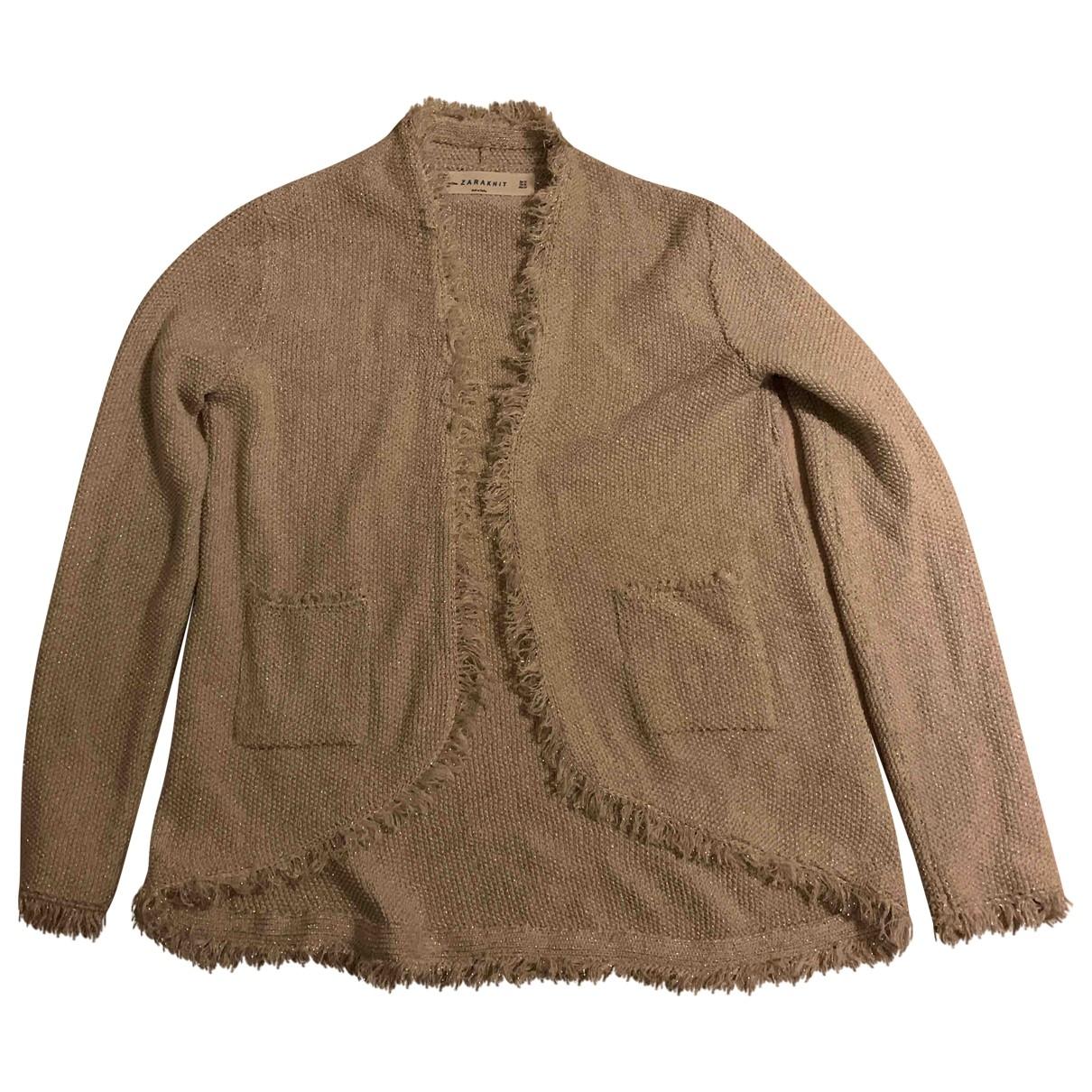 Zara \N Pullover in  Gold Viskose