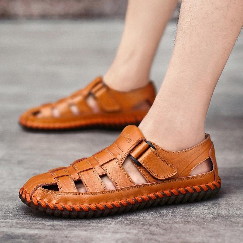 Ericdress Velcro Patchwork Low-Cut Upper Thread Sandals