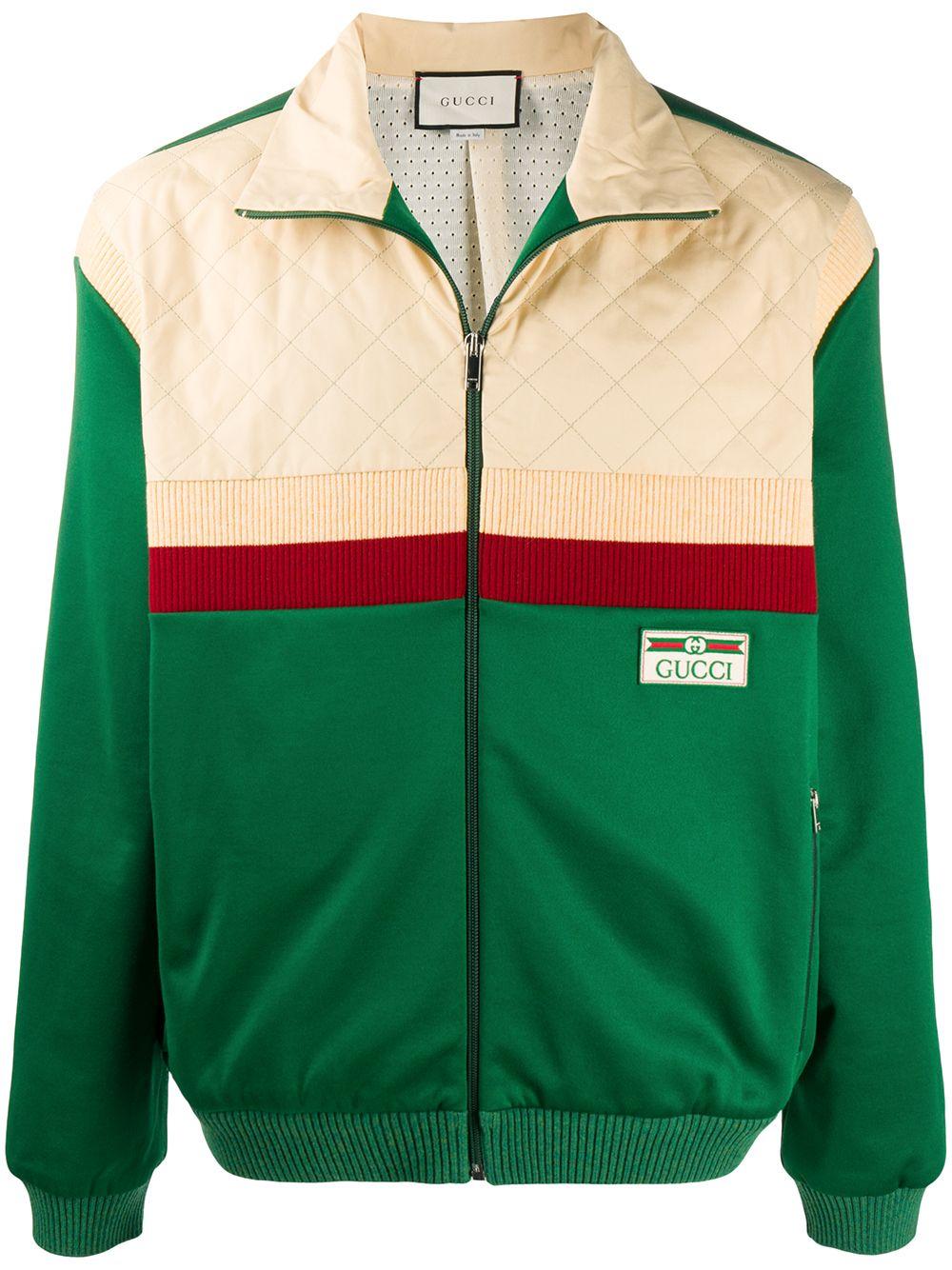 Cotton-blend Colour-block Bomber Jacket
