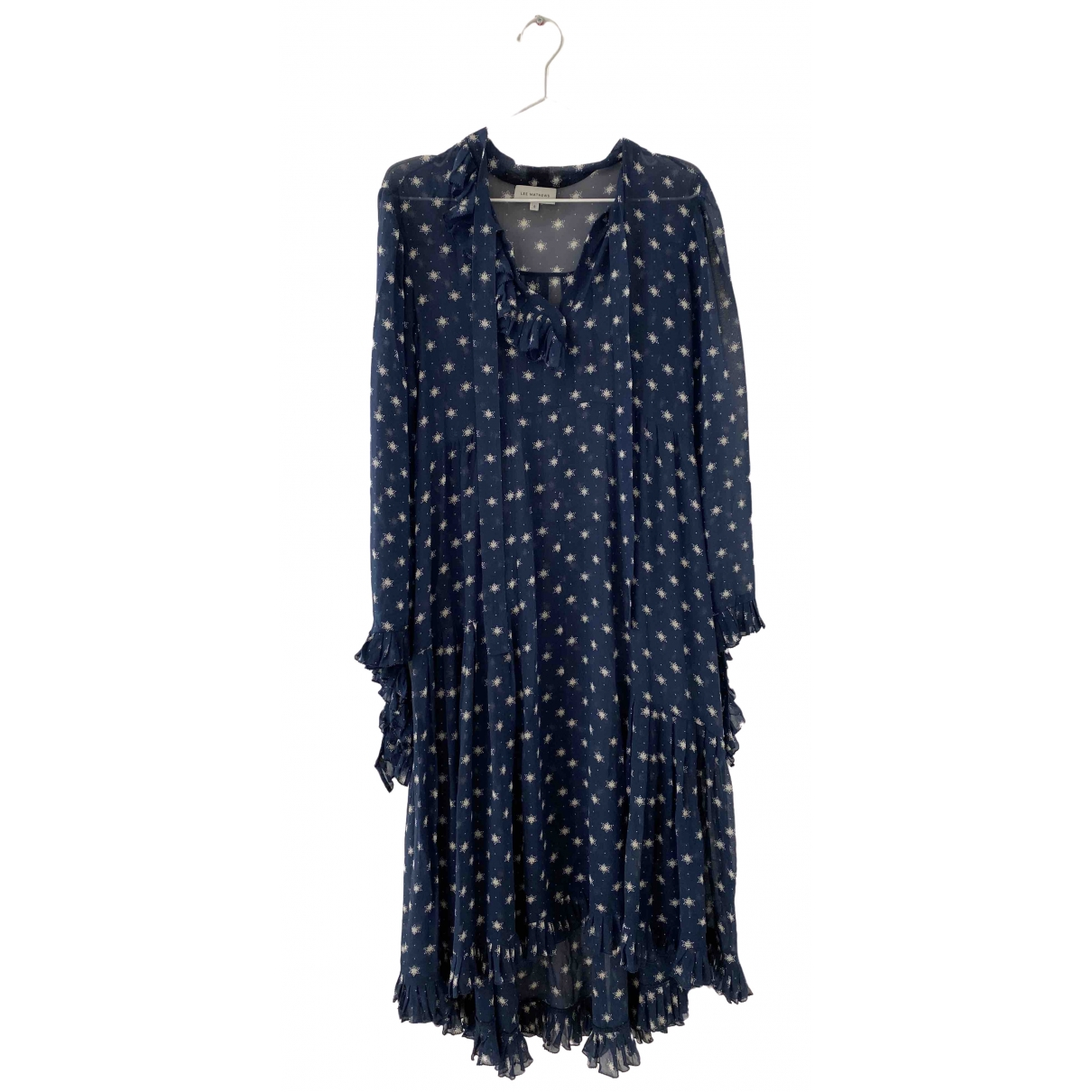 Lee Mathews \N Blue Silk dress for Women 1 0-5