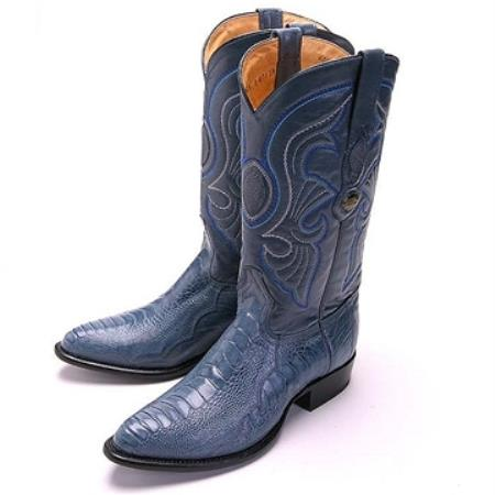Los Altos Blue Jean RToe Genuine Ostrich Leg