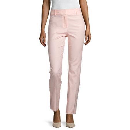 Liz Claiborne Audra Trouser Pant - Tall, 10 Tall , Pink