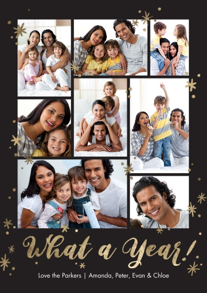 Christmas Photo Cards Mail-for-Me Premium 5x7 Flat Card, Card & Stationery -Christmas What a Year Collage by Tumbalina