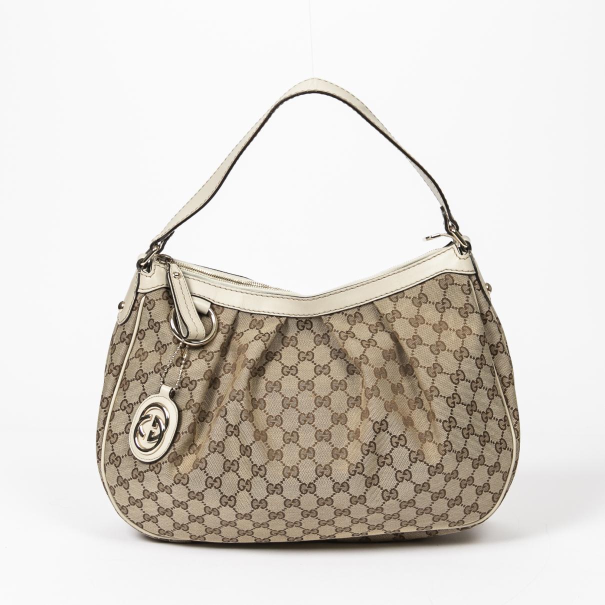 Gucci - Sac a main Sukey pour femme en coton - beige