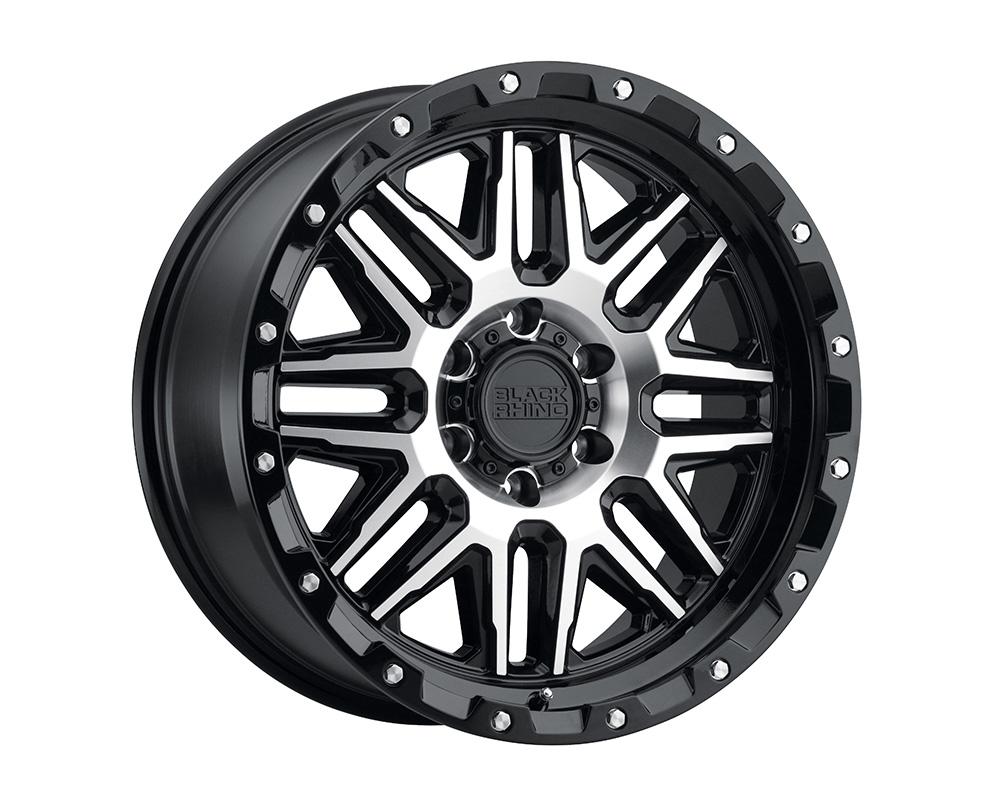 Black Rhino Alamo Wheel 20x9  8x170 6mm Gloss Black w/Machined Face & Stainless Bolts