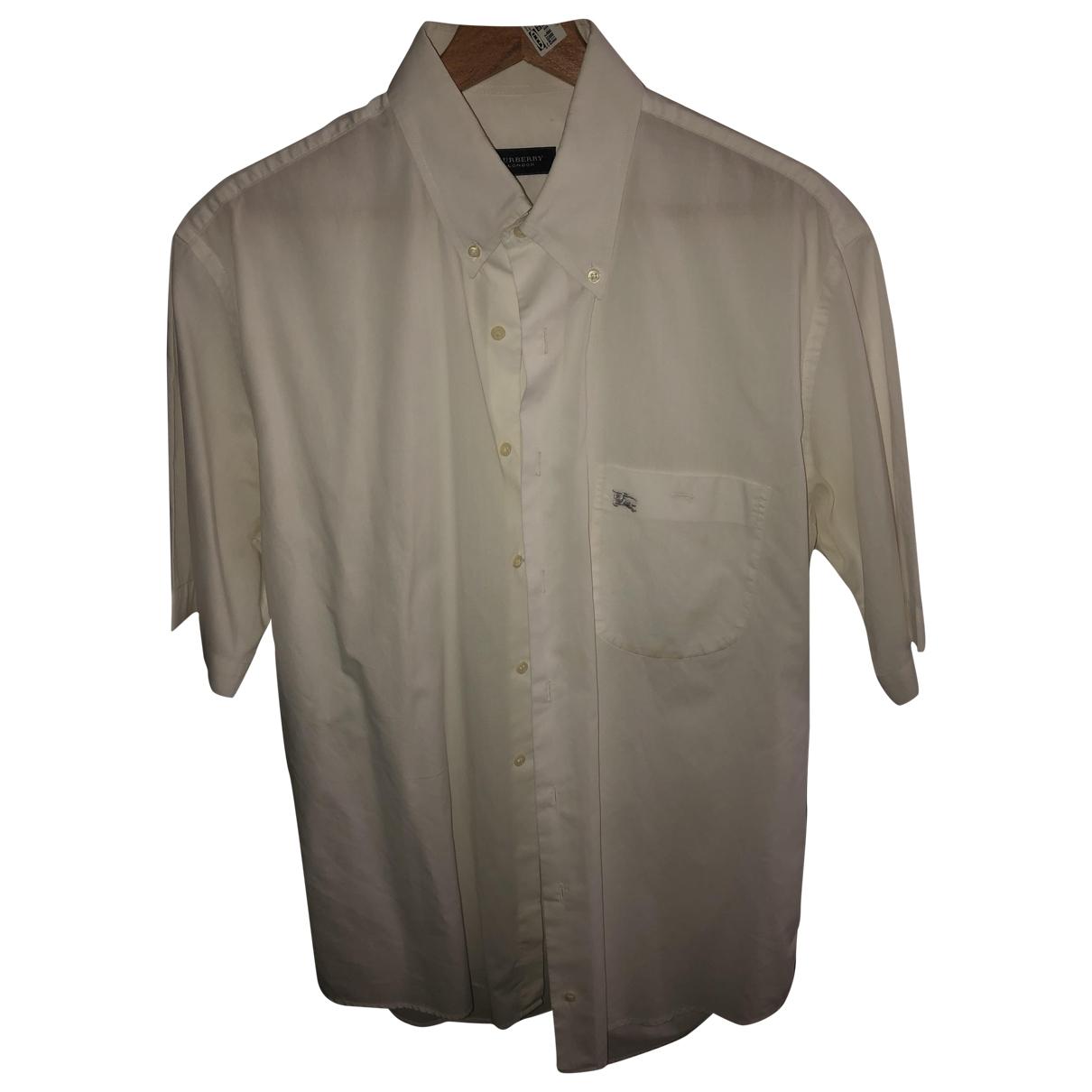 Burberry \N White Cotton Shirts for Men L International