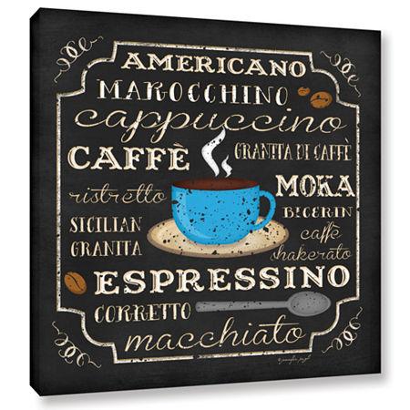 Brushstone Italian Coffee Gallery Wrapped Canvas Wall Art, One Size , Black