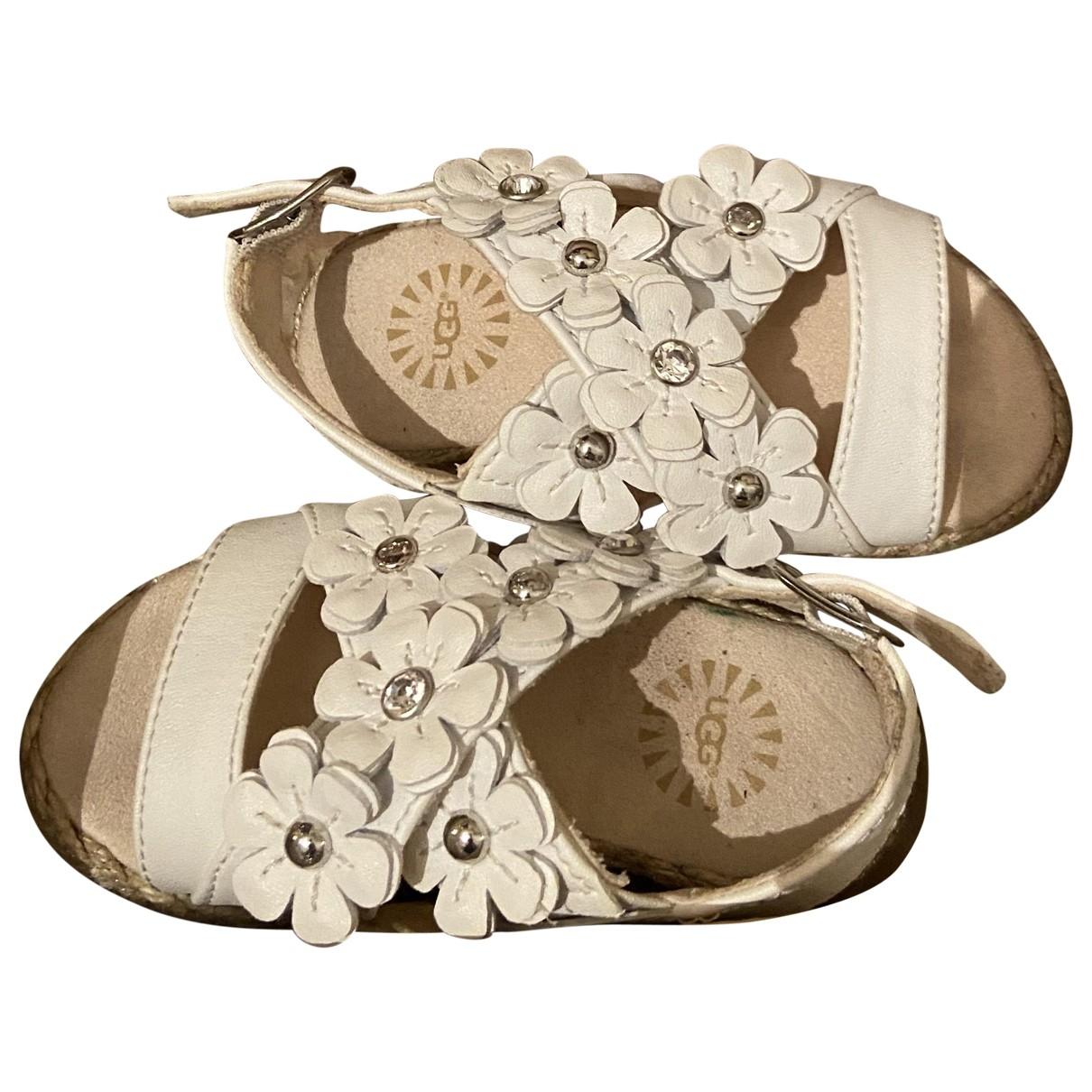 Ugg - Sandales   pour enfant en cuir - blanc