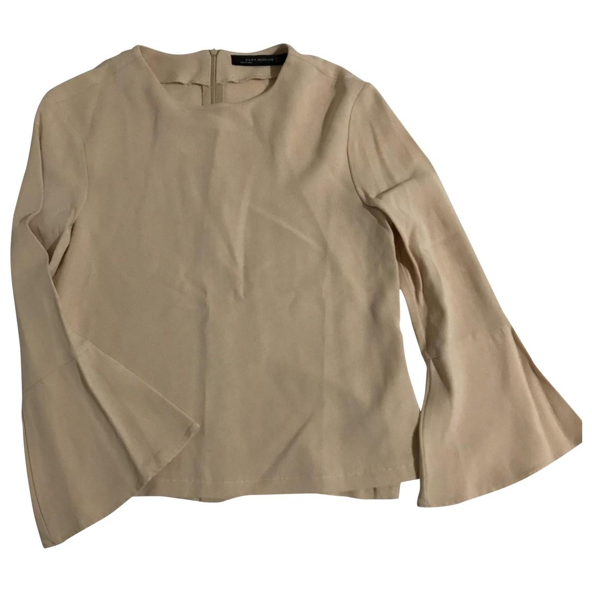 Zara - Pull   pour femme - beige