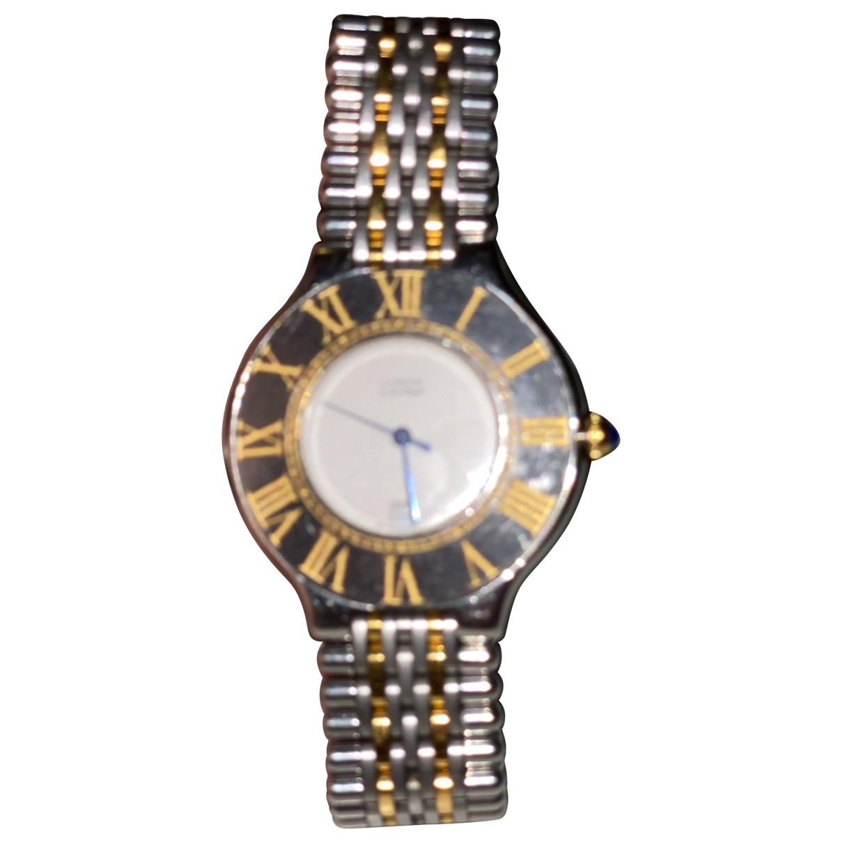 Cartier - Montre Must 21 pour femme en plaque or