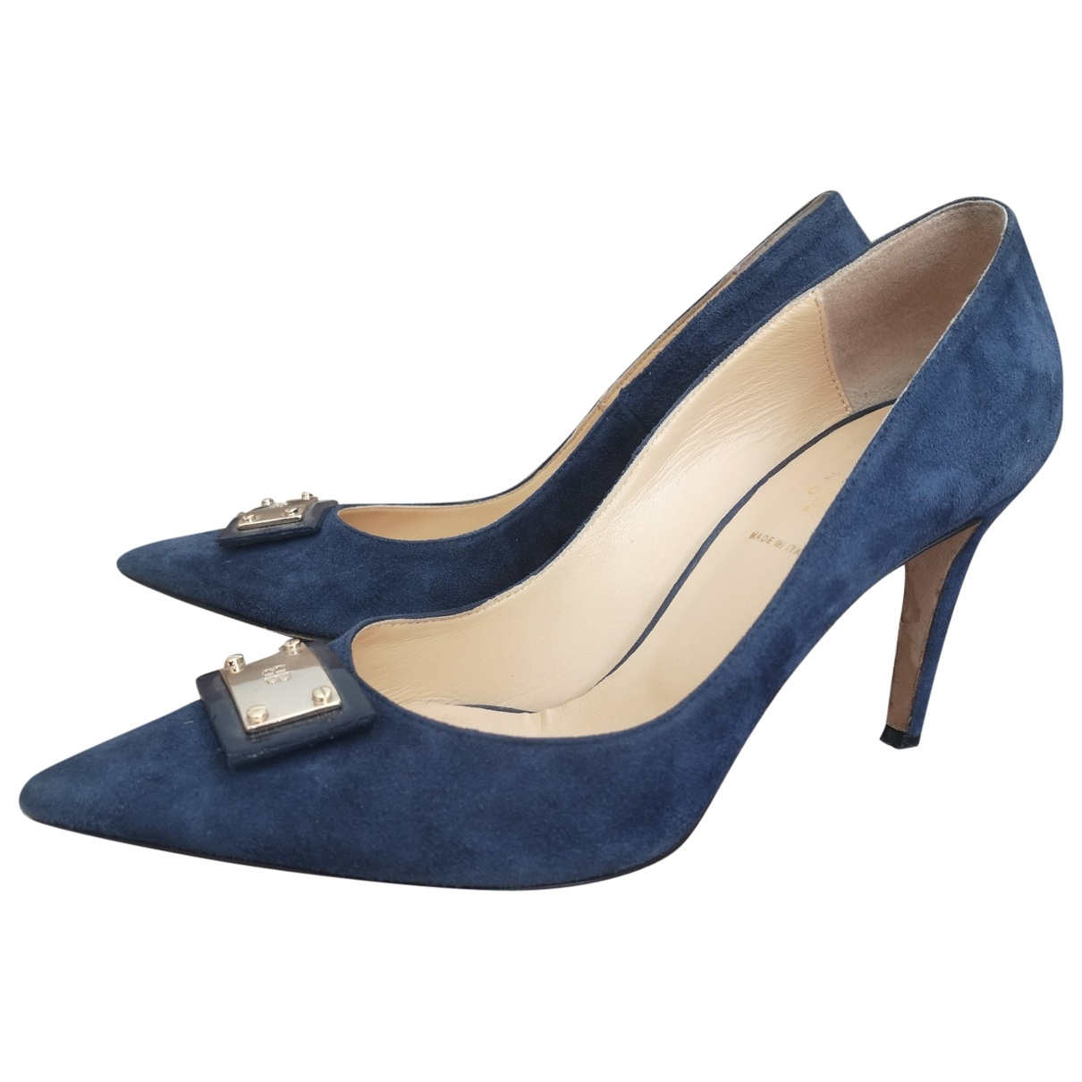 Baldinini \N Blue Leather Heels for Women 38 EU