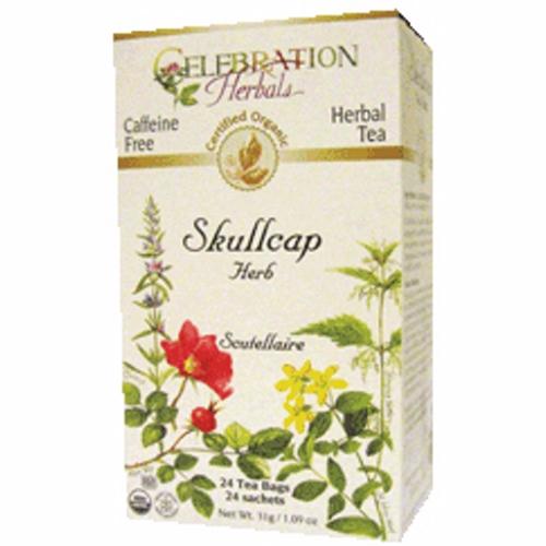 Organic Skullcap Herb Tea 24 Bags by Celebration Herbals