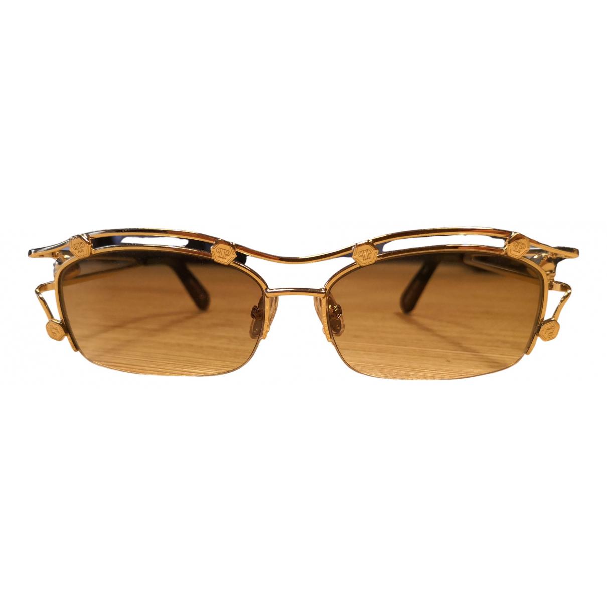 Philipp Plein \N Gold Metal Sunglasses for Women \N