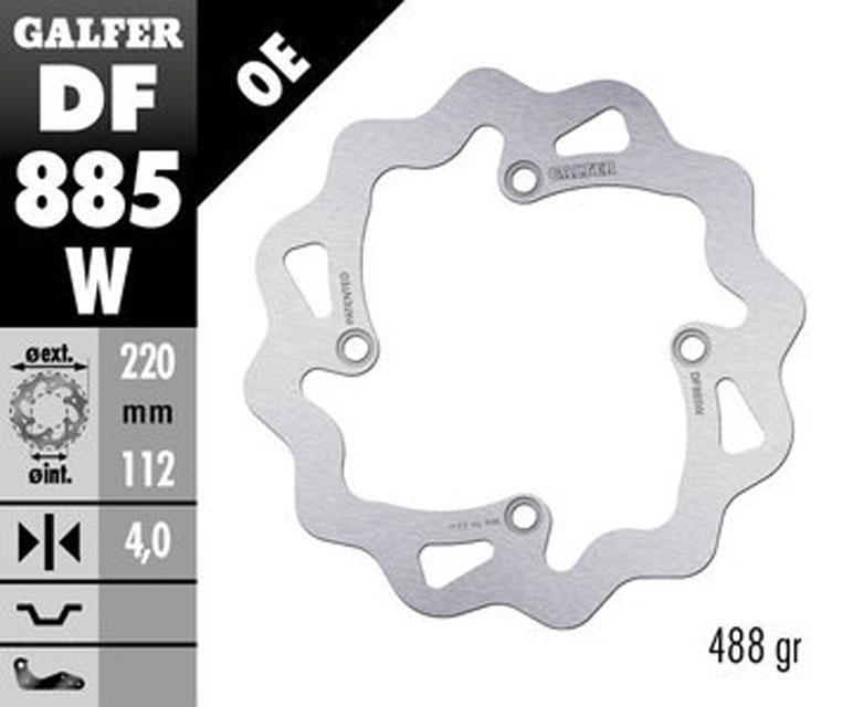 Galfer Rear Brake Disc HUSQVARNA WRE 125
