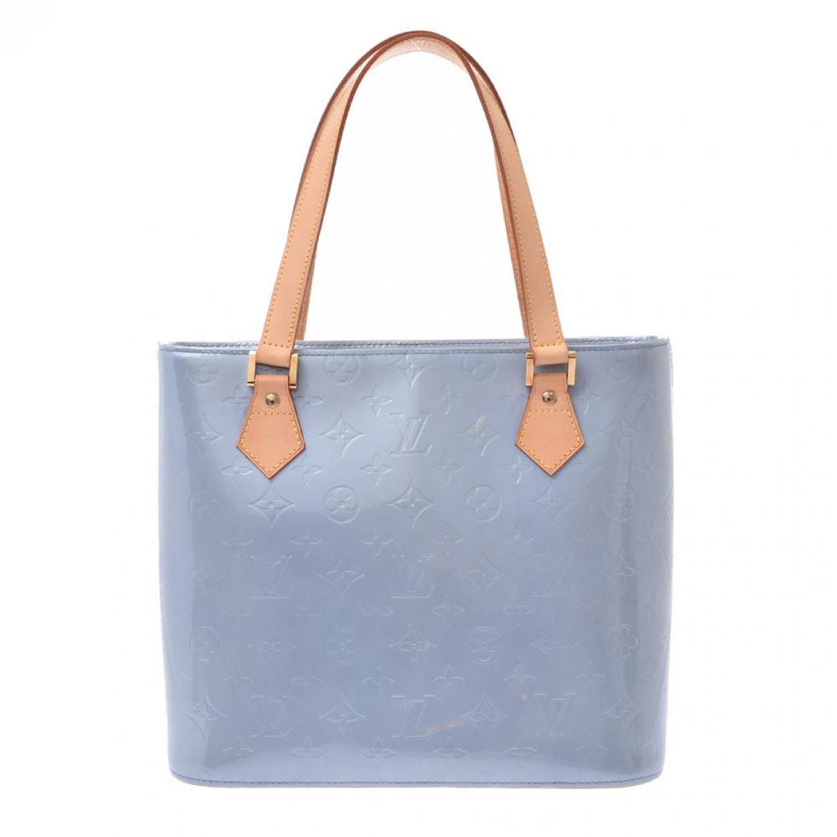 Louis Vuitton Houston Blue Patent leather handbag for Women \N